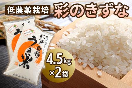【2622-0026】【新米】低農薬栽培の彩のきずな4.5㎏×2袋