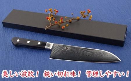 ◇旋風 ダマスカス V金10号「三徳」180mm