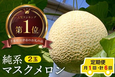 ◇【定期便6ヶ月】純系マスクメロン2玉【最高級】