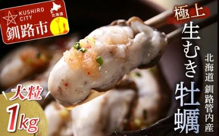 [Ho202-C138]釧路管内産「生食用」極上むき大粒牡蠣500g2パック(牡蠣酢・牡蠣しゃぶお勧め)