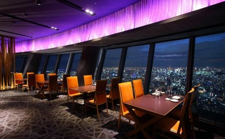 東京スカイツリーSky Restaurant634ディナー「雅コース」ペア利用券(東京スカイツリー(R)天望デッキ入場券付)