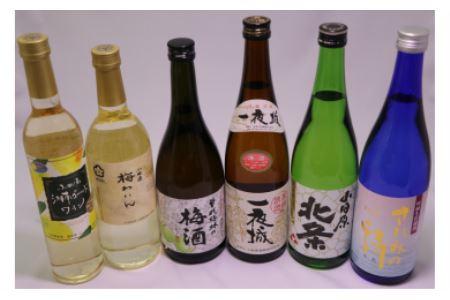 城下町小田原の日本酒3本と厳選3本 味くらべ6本
