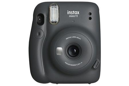 """インスタントカメラ""""チェキ"""" instax mini 11(チャコールグレー)+専用フィルム1パック(10枚)付"""