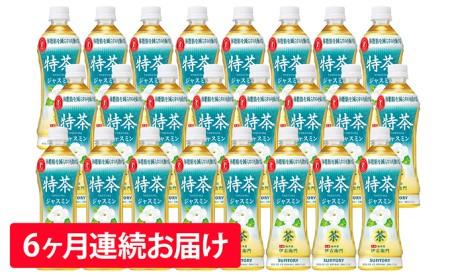 【6ヶ月定期便】特茶ジャスミン(特定保健用食品)500ml×24本