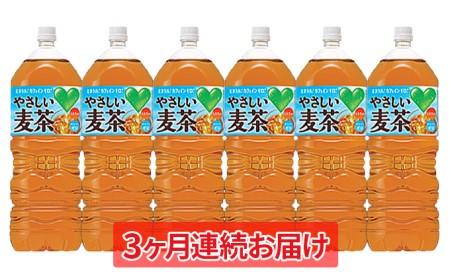 [№5820-0166]【3ヶ月連続お届け】GREEN DA・KA・RA やさしい麦茶2L×6本