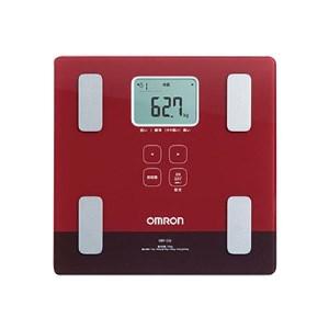 【2608-0014】オムロン 体重体組成計 両足測定タイプ(レッド)