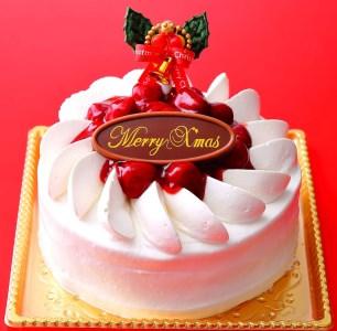 【2603-0083】クリスマス 苺ホワイトデコレーションケーキ 5号