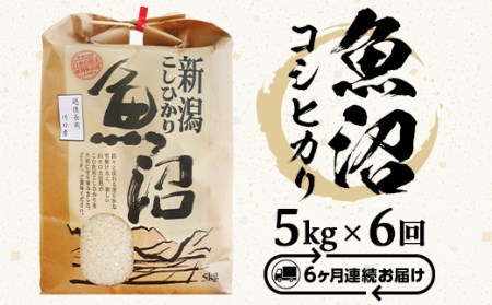 B7-27【6ヶ月連続お届け】魚沼産コシヒカリ5kg(長岡川口地域)