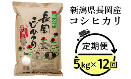 73-N0512【12ヶ月連続お届け】新潟県長岡産コシヒカリ5kg