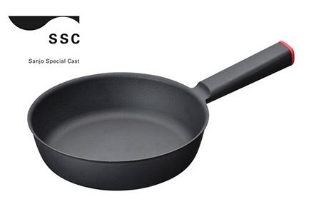 【01-162】SSC 鋳物フライパン20cm レッド