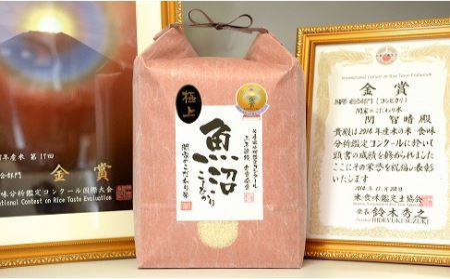 5年連続金賞 関家のこだわり米 5㎏ 南魚沼塩沢産コシヒカリ