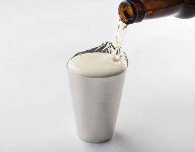 銀雅堂 ビールグラス泡雲 タンブラー ビアグラス 酒杯 錫 酒器 富士山 プレゼント ギフト 富山 高岡