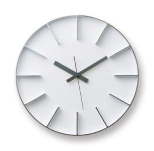Edge Clock/ホワイト(AZ-0115 WH)Lemnos レムノス 時計