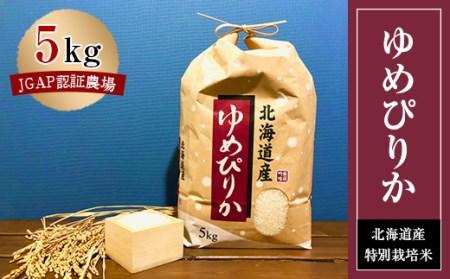 特別栽培米 JGAP認証農場 令和2年産北海道産ゆめぴりか 5kg【1206355】