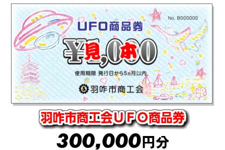 [G044] 羽咋市商工会UFO商品券(300,000円分)【現地利用限定】