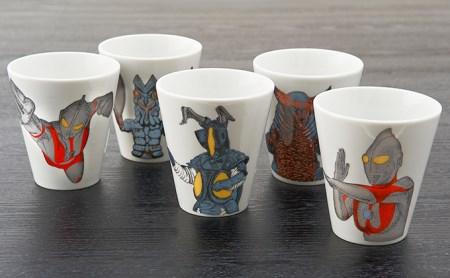 [№5784-0035]九谷焼トールカップセット ウルトラマンシリーズ