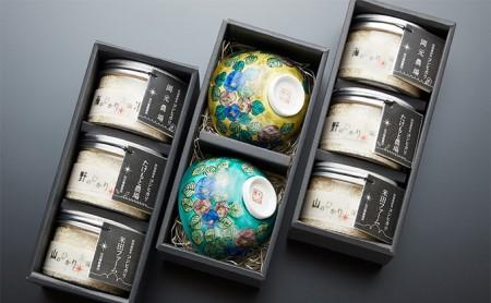 ~ご夫婦で極上の「能美」を召し上がれ~ 能美の恵み「ひかり太陽米」と地元陶芸コレクター一押しの伝統工芸「九谷焼」夫婦茶碗セット