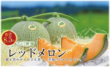 甘~い贅沢 「特選甘熟レッドメロン」北海道産どっさり8.5kg!! 03_H024