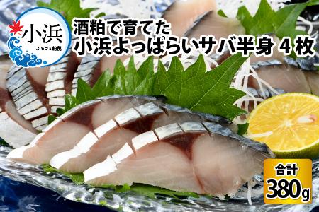国産 サバ 鯖 小浜よっぱらいサバ  半身 × 4枚 [A-001002]