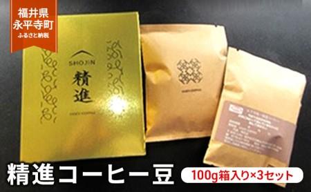 精進コーヒー豆 100g箱入り×3セット