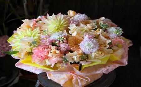 【12ヶ月定期便】 小松弘典が作る 季節を感じる旬のフラワーアレンジメント