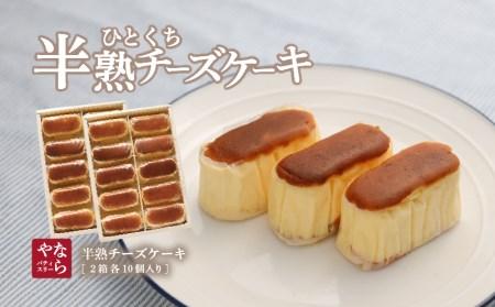 半熟チーズケーキ2箱(各10個入り)