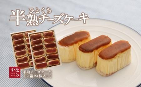 半熟チーズケーキ2箱(各12個入り)