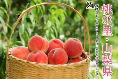 日本一の桃の里・山梨県産  完熟桃約2Kg (4~7玉)