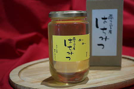 1-9-7 南アルプス天空舎が贈る「黄金色の南アルプス市上宮地産アカシア蜂蜜1本」