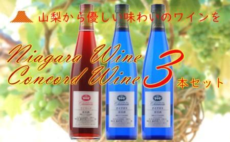 R-104 ナイアガラ&コンコード・ワイン 3本セット