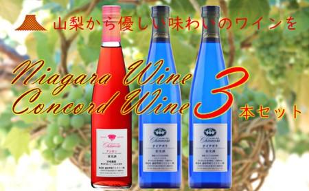 [№5768-0115]R-104 ナイアガラ&コンコード・ワイン 3本セット