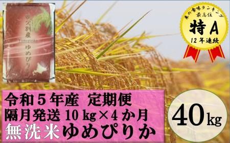 〈新米〉令和3年産無洗米ゆめぴりか定期便40㎏(1か月おき10㎏×4か月)【TC-20】