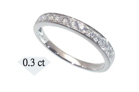 015-011 天然ダイヤモンドリング ハーフエタニティタイプ(0.3カラット)