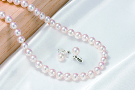 花珠真珠ネックレス・イヤリング特別2点セット(8~8.5mm)