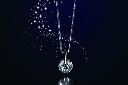 070-001 1カラット天然ダイヤモンドネックレス