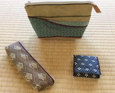 001-048 畳の縁(へり)で作ったポーチと小物セット