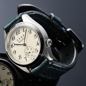 025-010 ≪腕時計 機械式≫SPQR Ventuno ss(アイボリー)