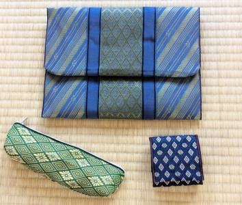 001-052 畳の縁(へり)で作った御朱印張入れと小物