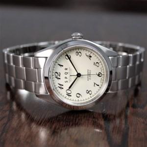 025-024 ≪腕時計 機械式≫Ventuno st 復刻版×SOMES三つ折れバックル(文字盤アイボリー)