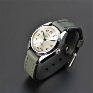 025-025 ≪腕時計 機械式≫Ventuno st 復刻版×SOMES三つ折れバックル(文字盤ローズグレー)