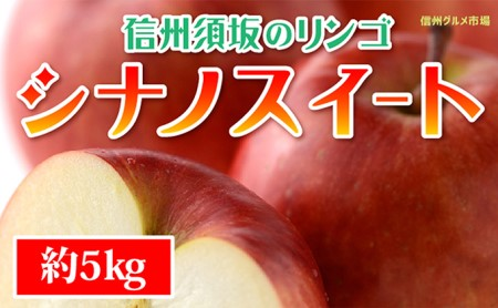 [№5657-2281]☆先行予約【信州須坂のりんご】シナノスイート≪秀品≫約5kg
