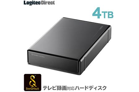 【AJ-33】SeeQVault対応 外付けHDD ハードディスク 4TB  ブラック
