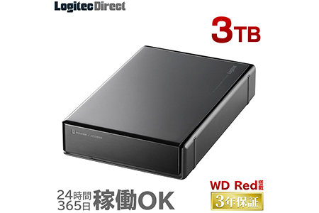 【AJ-34】WD Red搭載 USB3.1(Gen1) / USB3.0/2.0 外付けハードディスク(HDD) 3TB 【LHD-ENA030U3WR】