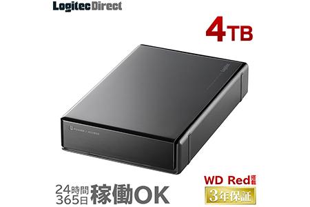 【AK-28】WD Red搭載 USB3.1(Gen1) / USB3.0/2.0 外付けハードディスク(HDD) 4TB 【LHD-ENA040U3WR】