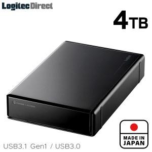 【045-01】ロジテック HDD 4TB USB3.1(Gen1) / USB3.0 国産 TV録画 省エネ静音 外付け ハードディスク テレビ 3.5インチ 4K録画 PS4/PS4 Pro対応【LHD-ENA040U3WS】