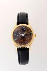 A-110 伝統の技光る「いいやま蒔絵女性用腕時計」