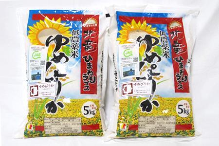 北海道北竜町【お米10kg】ゆめぴりか 低農薬米
