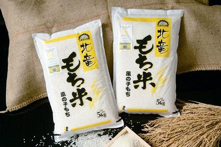 B007 【お米 もち米10kg】風の子もち 低農薬米