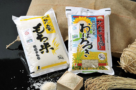 B009 【もち米&お米のセット10kg】風の子もち・おぼろづき 低農薬米