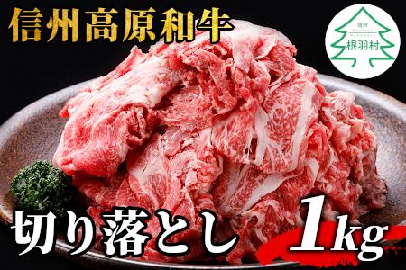 人気NO.1★信州高原和牛 切り落とし 1kg (250g×2) 国産黒毛和牛 和牛 小分け包装